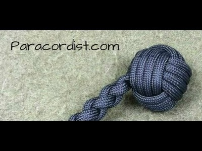 Paracordist how to tie a monkeys fist knot w. 2 paracord strands out for a self defense keychain