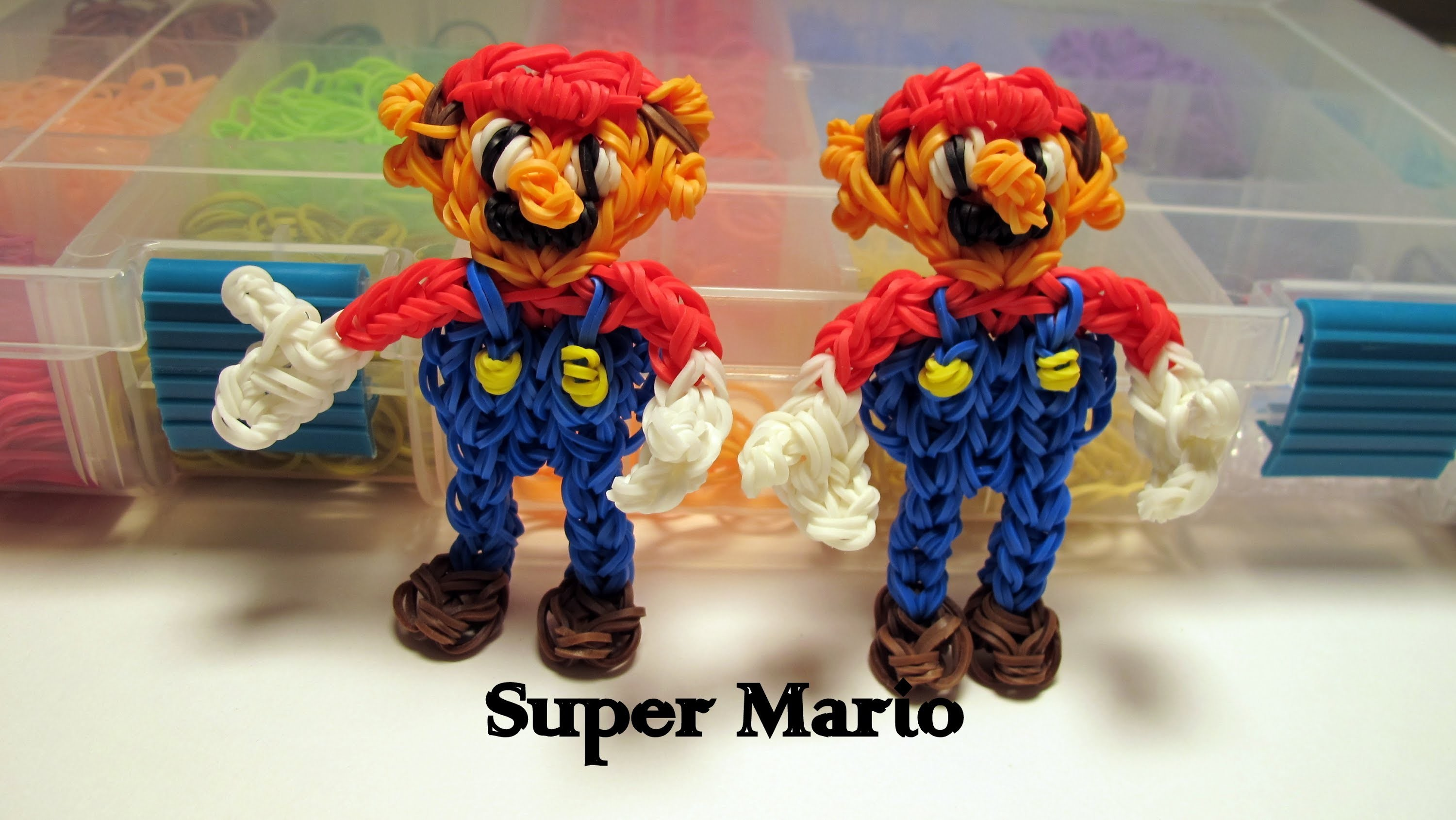 Rainbow Loom Super Mario Figure - How to- Action Figure Series