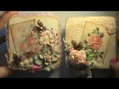 Shabby chic altered wooden trinket boxes for my nieces (don't peek Alivia!)