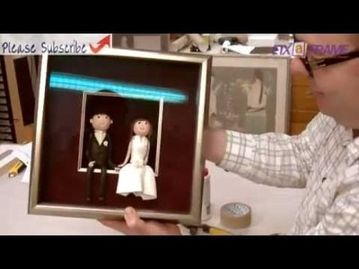 Shadowbox Wedding Cake Decorations Using Deep Box Picture Frame