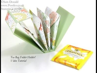 Tea Bag Holder Folder Tutorial