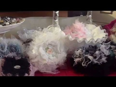 Updated Shabby Chic Tutorial on Puffy Rosette flowers.