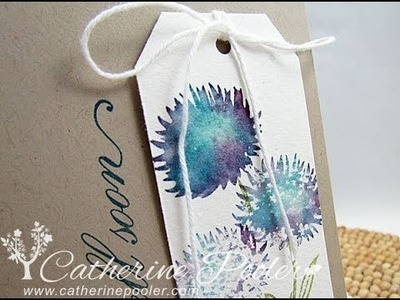 Watercolored Card Making Tutorial -Dazzling Divas Challenge