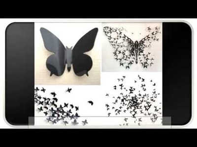 3d Butterfly Wall Decor