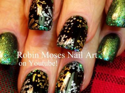 4 Nail Art Tutorials | DIY Christmas Nail Art | Silver & Gold Snowflakes