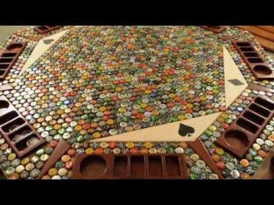 Amazing Bottle Cap Poker Table