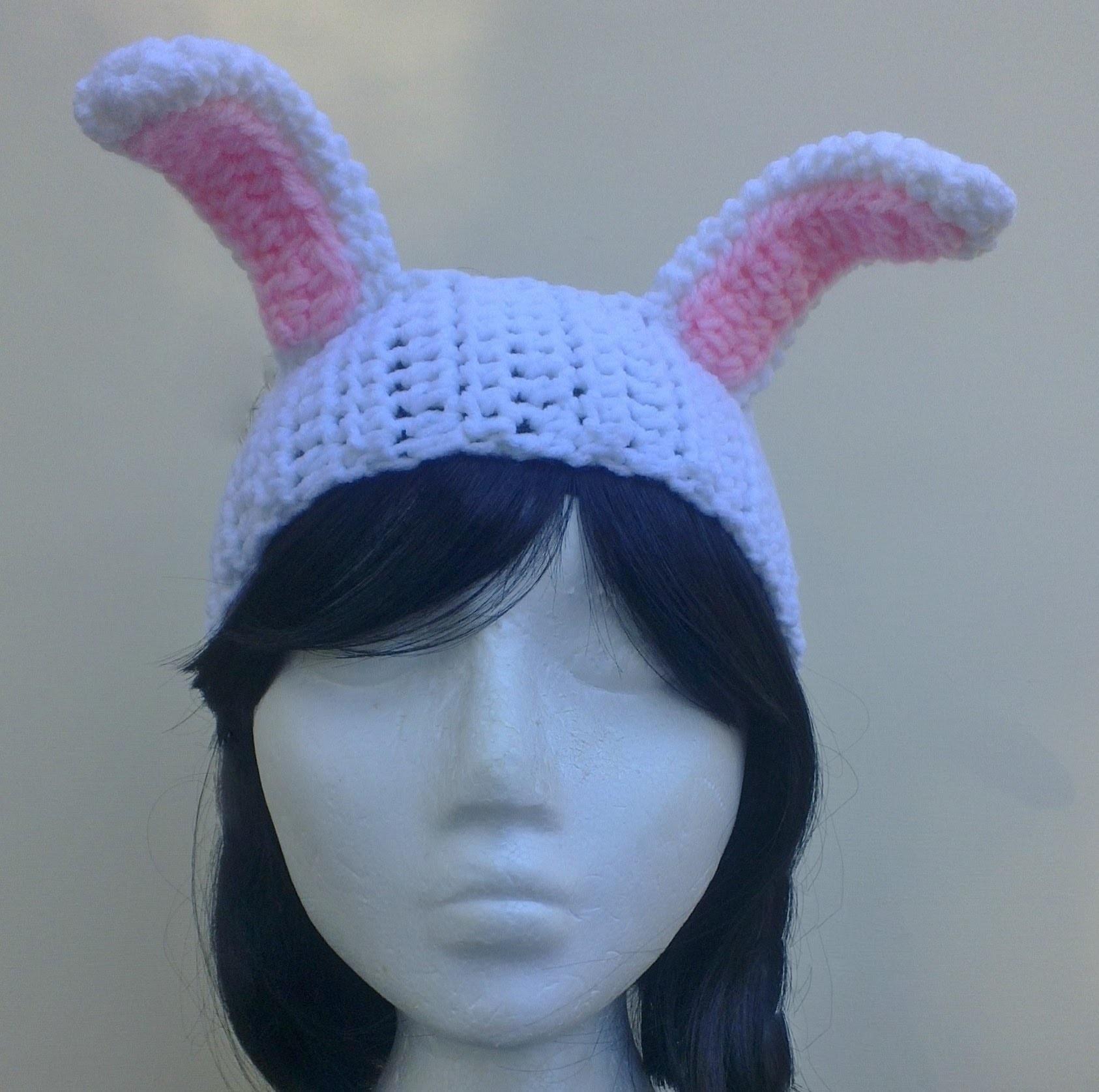 Bunny Headband Crochet Tutorial - Easter