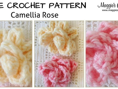 Camellia Rose Free Crochet Pattern - Right Handed
