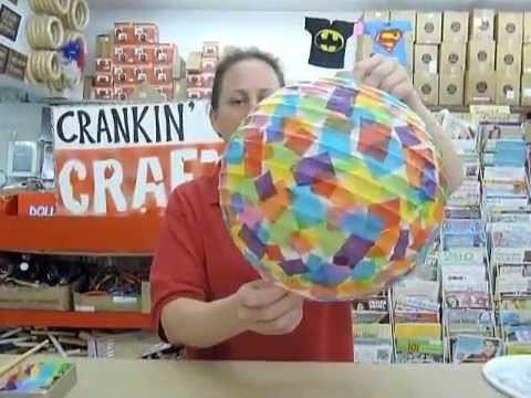 Crankin' Out Crafts -ep266 Tissue Paper Lantern