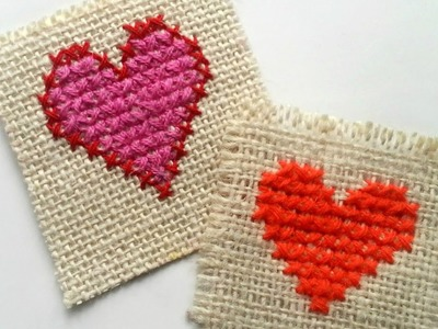 Create a Simple Cross Stitch Heart - DIY Crafts - Guidecentral