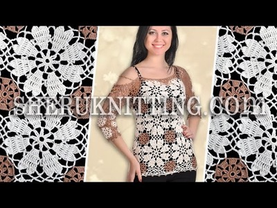 Crochet Round Motif Blouse Model 24 Crochet Blouse For Women
