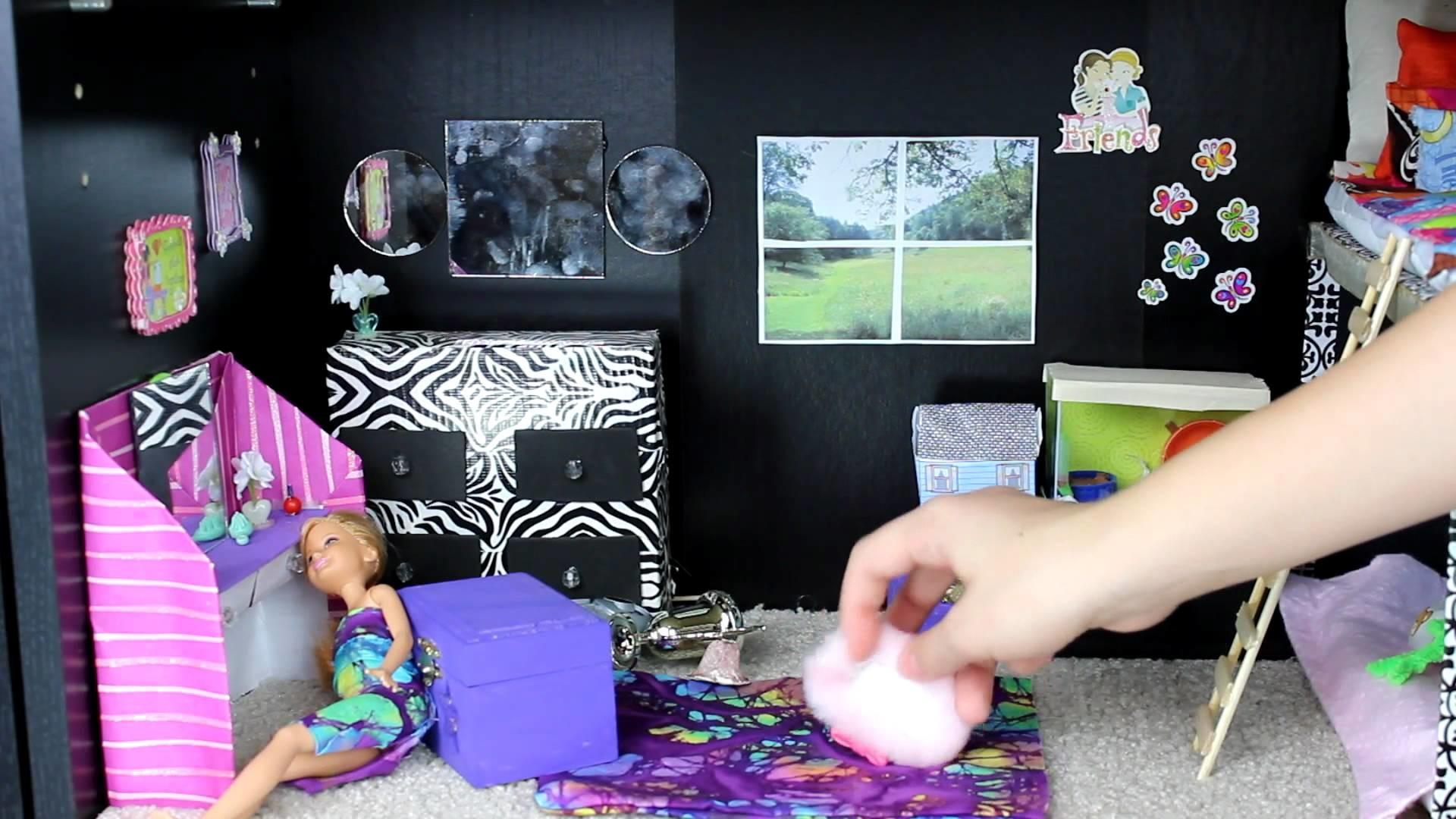 Custom Barbie House with Homemade Toys