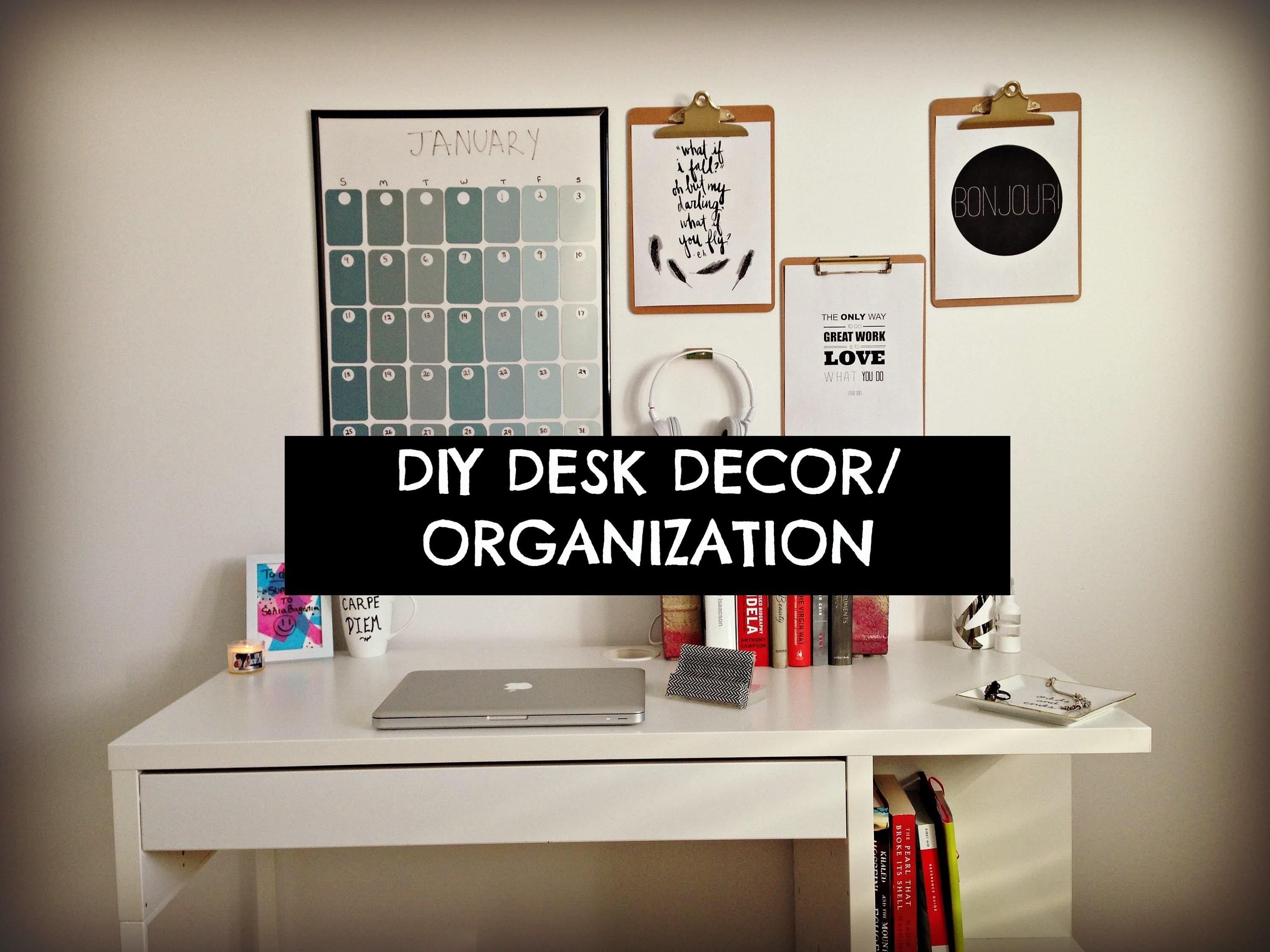 Cute, Cheap and Easy DIY Desk Decor & Organization!