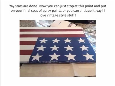 DIY BIG Wooden American Flag