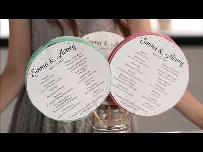 DIY Ceremony Programs Your Guests Will Love! | Honeycomb Ceremony Fans | DIY Wedding