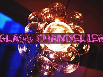 DIY Chic Glass Chandelier