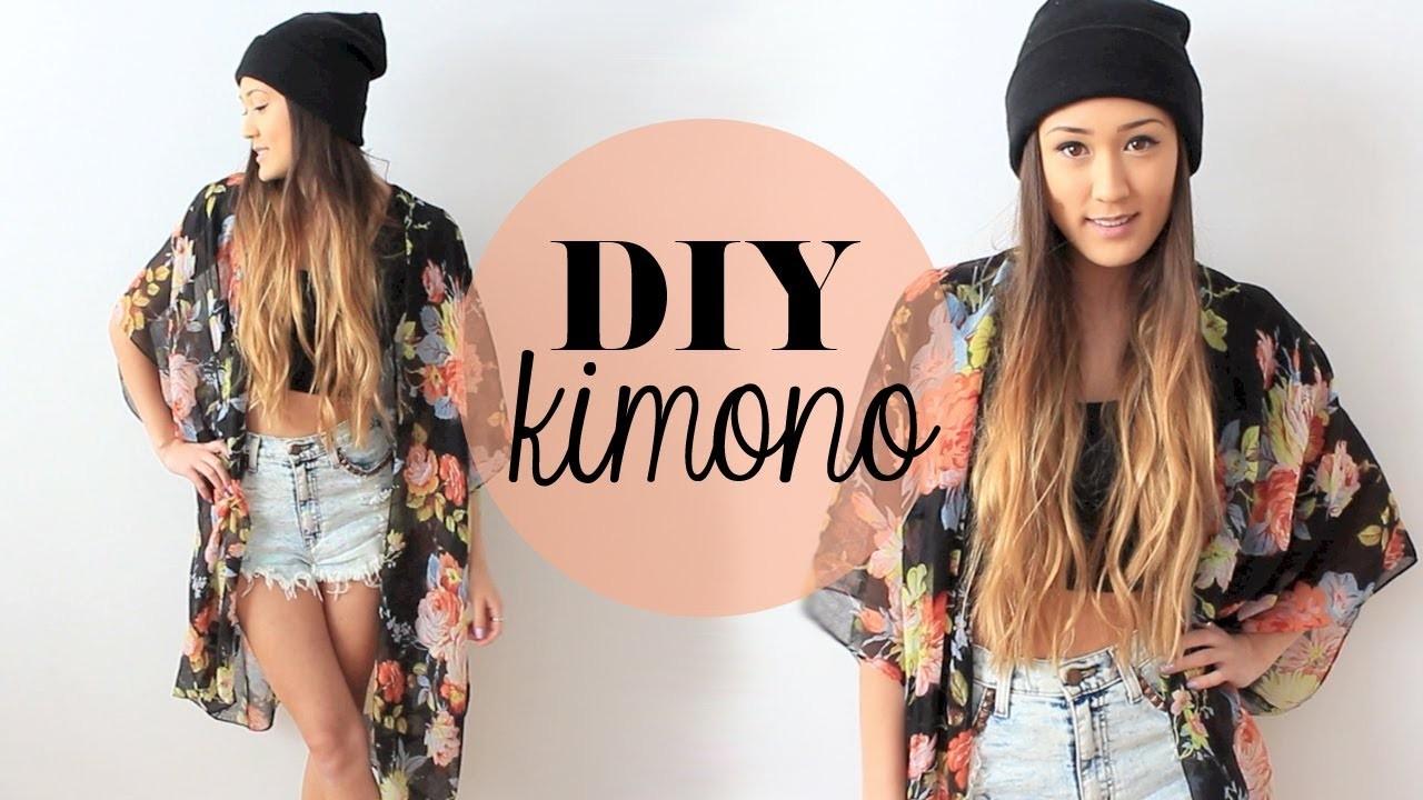 DIY: Easy Kimono   LaurDIY
