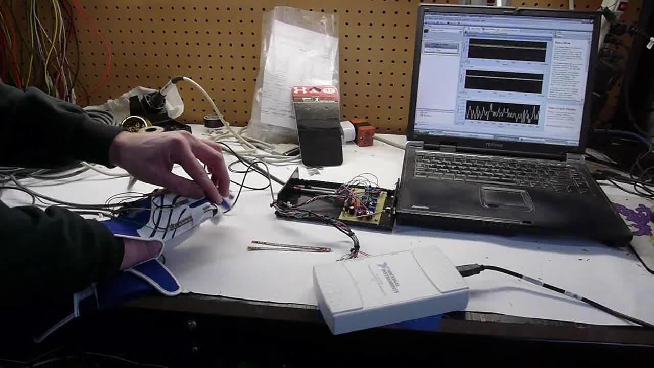 DIY flex sensor gloves for possible VR or video game control