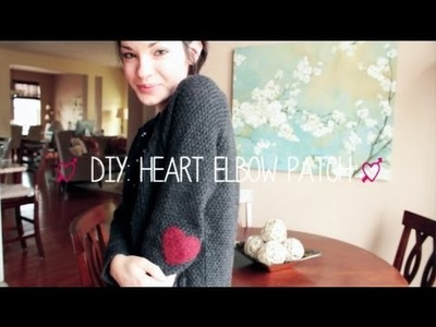 DIY: Heart Elbow Patch Sweater