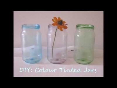 DIY - How to Colour Tint Glass Jars