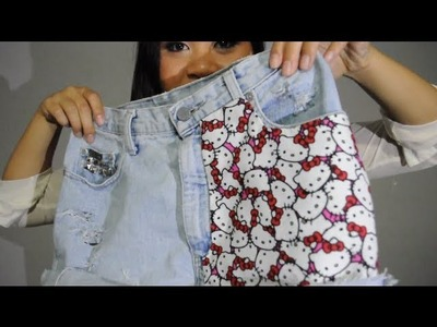 DIY ♥ How To Make High Waisted Hello Kitty Shorts!