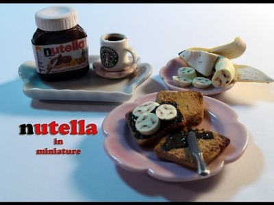 DIY: How To Make Miniature Nutella And Toast With Polymer Clay