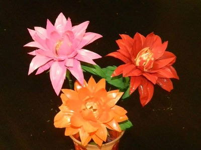 DIY: How to recycle waste water bottles into beautiful Dahlia flowers?