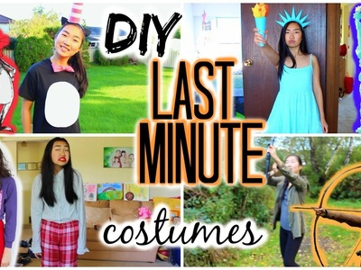DIY: Last Minute Halloween Costumes (Cat in the Hat, Statue of Liberty, Katniss, Miranda Sings)