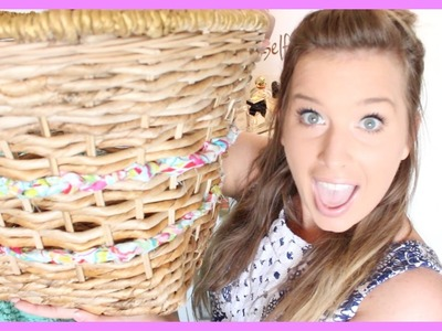 DIY: Lilly Pulitzer for Target Woven Basket