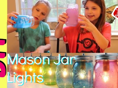 DIY Mason Jar Lights | Easy Glass Tinting 2 Ingredients | Mason Jar DIY
