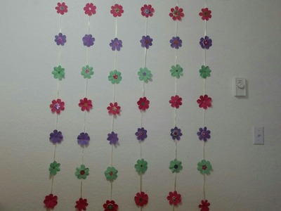 DIY: Paper Wall Hanging for party, birthday, festivals and home decorations
