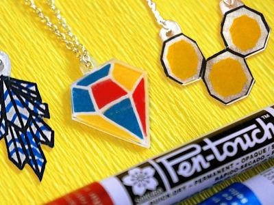 DIY Trendy Geometric Necklaces