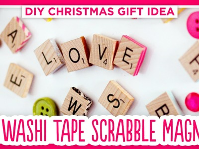 DIY Washi Tape Scrabble Magnets - Handmade Christmas Gift 2014!