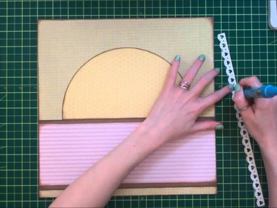 Faith Abigail Designs - Cherry Blossom Single Page Scrapbook Layout Tutorial