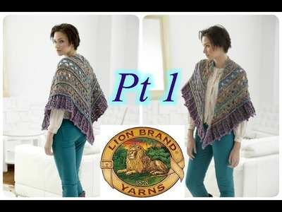Falling Water Shawl - PART 1 - Left Handed Crochet Tutorial 2
