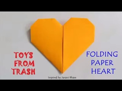 FOLDING PAPER HEART | ENGLISH | Simple Origami!