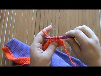 Halloween Crochet Towel Topper - Part 4