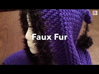 How To add Faux Fur Trim or Edge | Crochet Fur Trim