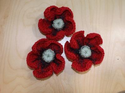 How To Crochet A Poppy Flower