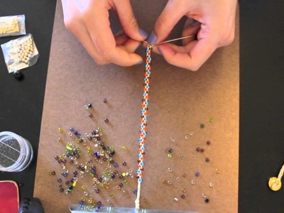 How To:: DIY Braided Bead Bracelet - Great for stacking and mixing