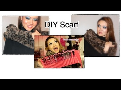 How To: DIY Fur Scarf and Pink Brush Set Giveaway