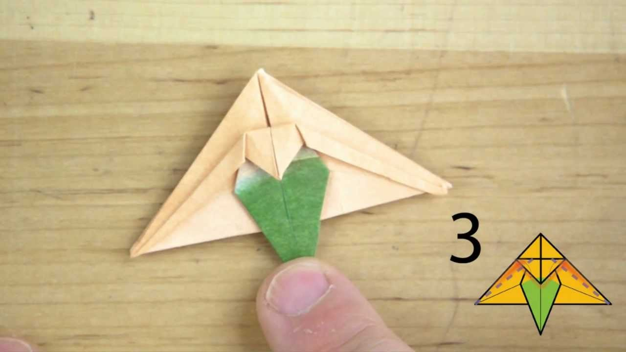 How to Fold the Snap Dragon Flower for Origami Bonsai