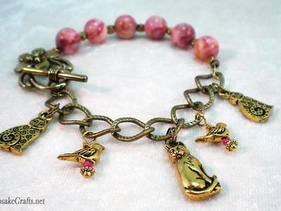 How to Make a Half Bead Half Charm Bracelet