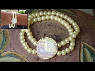 How to Make a Multi Strand Pearl Bracelet DIY | CONTEST CLOSED