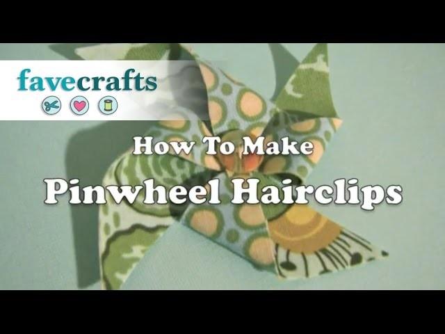 How to Make a Pinwheel Hair Clip