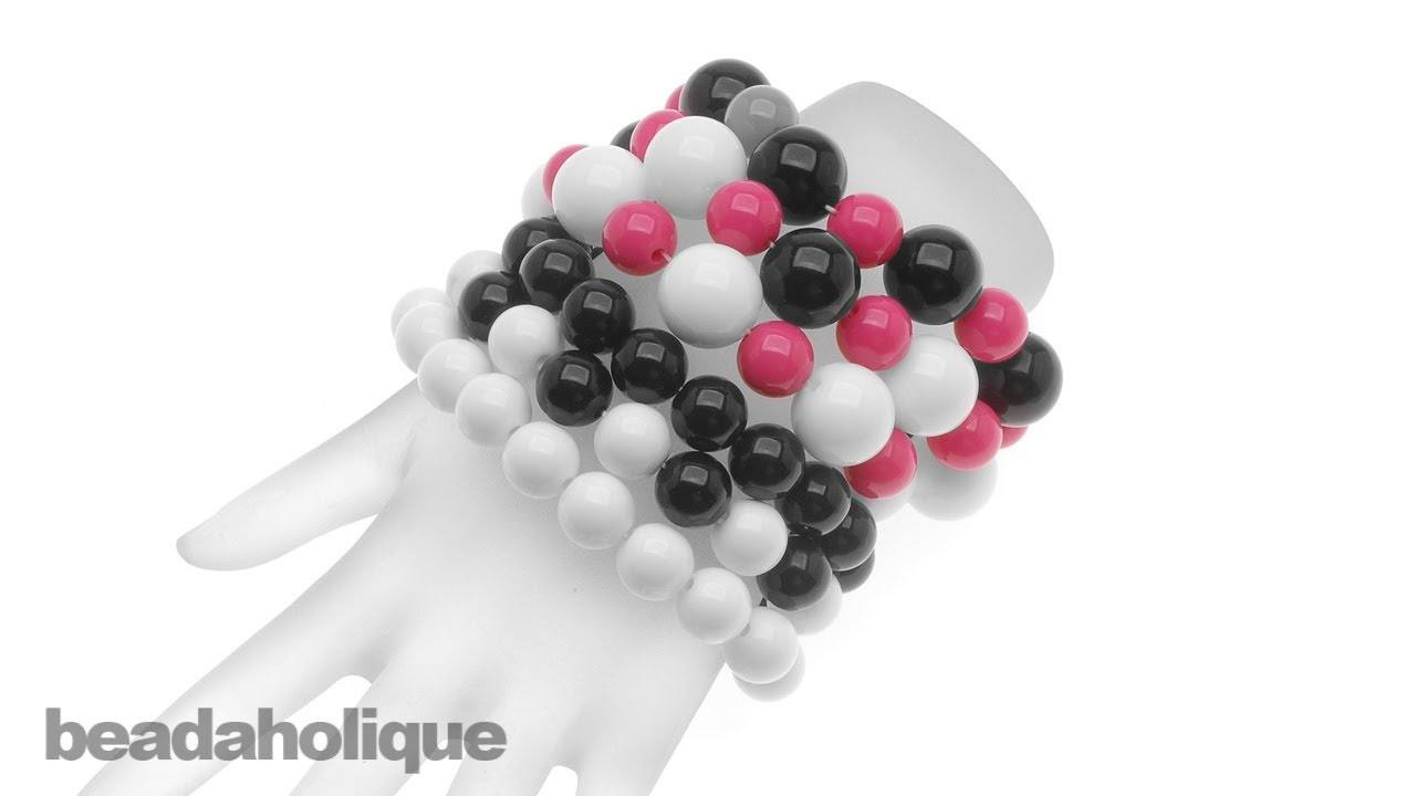 How to Make an Acrylic Bead Stretch Bracelet Set