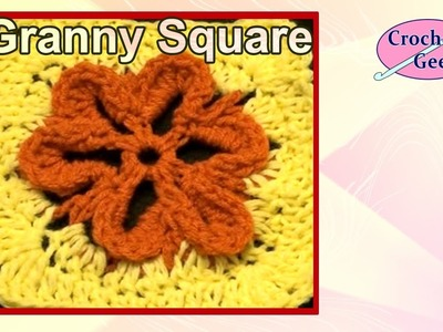 How to make an Embossed Crochet Flower on YouTube Crochet Geek