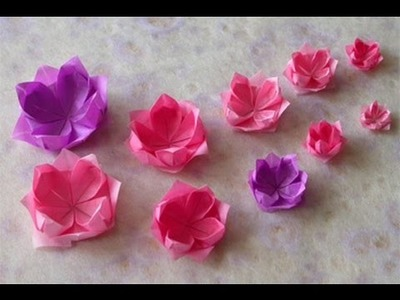 How to make an Origami Lotus - Vietnamese National Flower