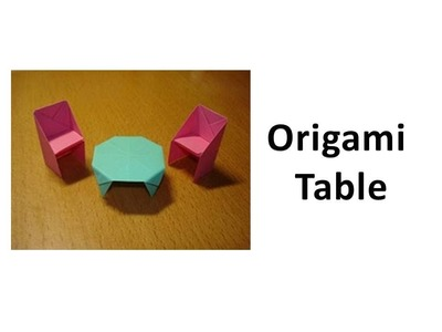 How to make an Origami Table