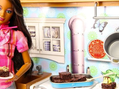 How to Make Doll Brownies & Icecream - Doll Crafts